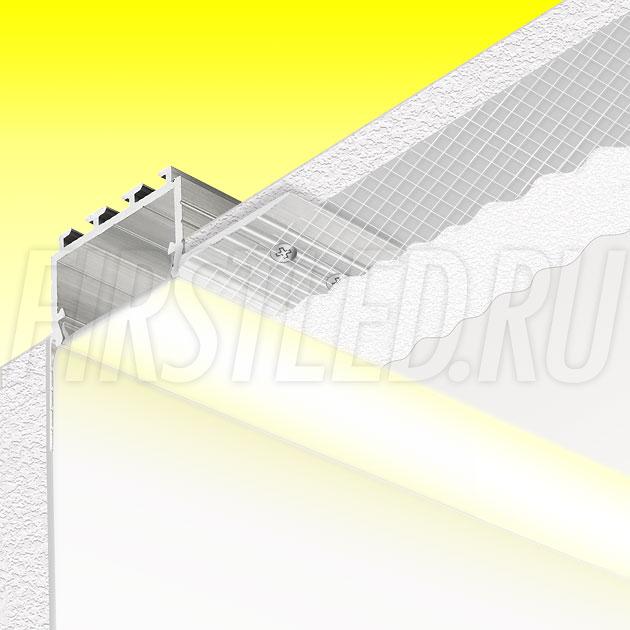 Встраиваемый алюминиевый профиль без рамок вдоль стен TALUM BORDER 24 (аналог PROFLINE 20TC)