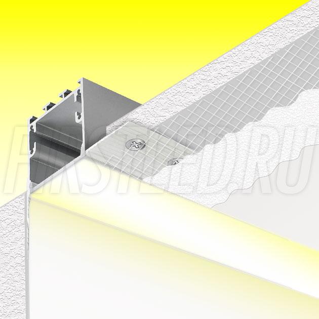 Встраиваемый алюминиевый профиль без рамок вдоль стен TALUM BORDER 32
