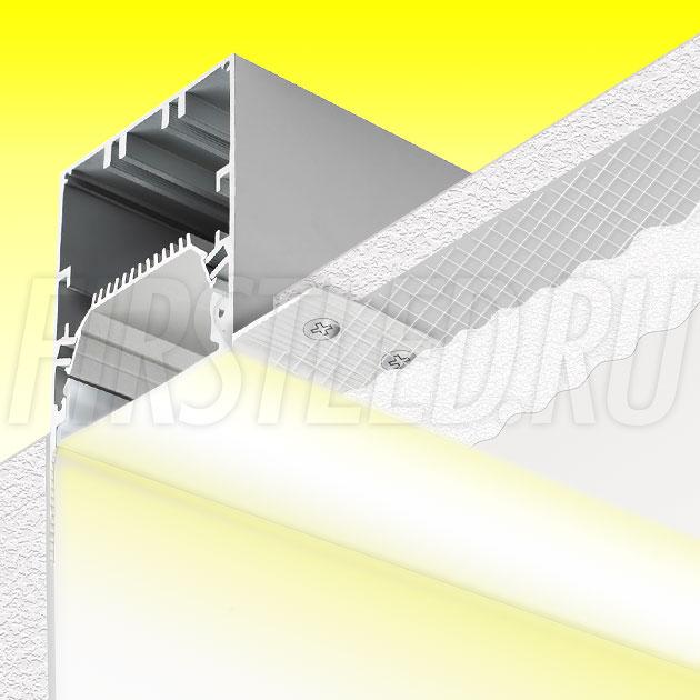 Встраиваемый алюминиевый профиль без рамок вдоль стен TALUM BORDER 54