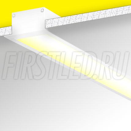 Встраиваемый алюминиевый профиль TALUM E63.32 (белый, 2,5м)