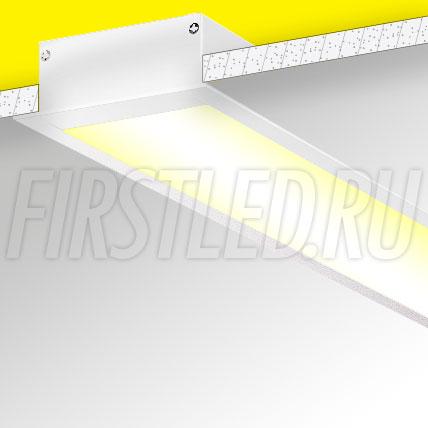 Встраиваемый алюминиевый профиль TALUM E88.32 (белый, 2,5м)