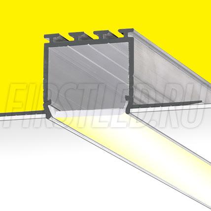 Встраиваемый алюминиевый профиль без рамок TALUM EH67.25