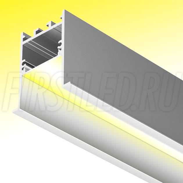 Встраиваемый алюминиевый профиль TALUM HIDE E45.51