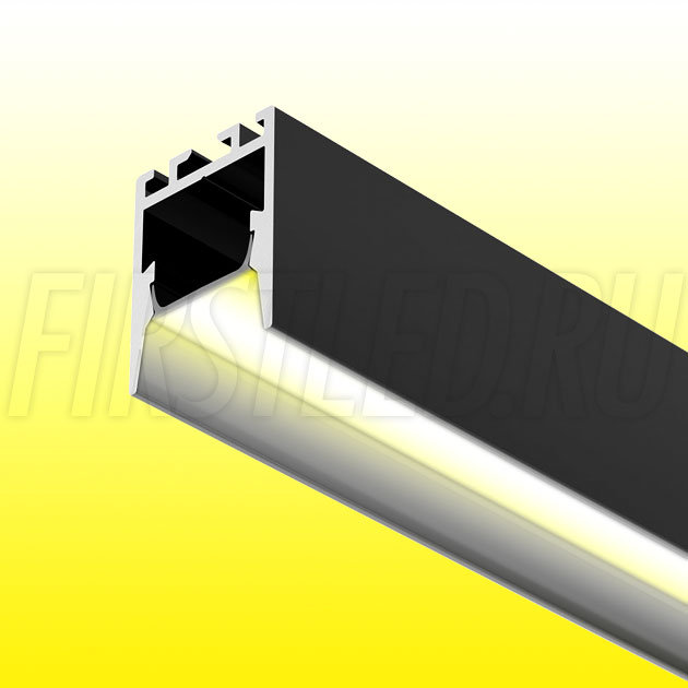 Накладной / подвесной алюминиевый профиль TALUM HIDE WP16.22 BLACK (черный)