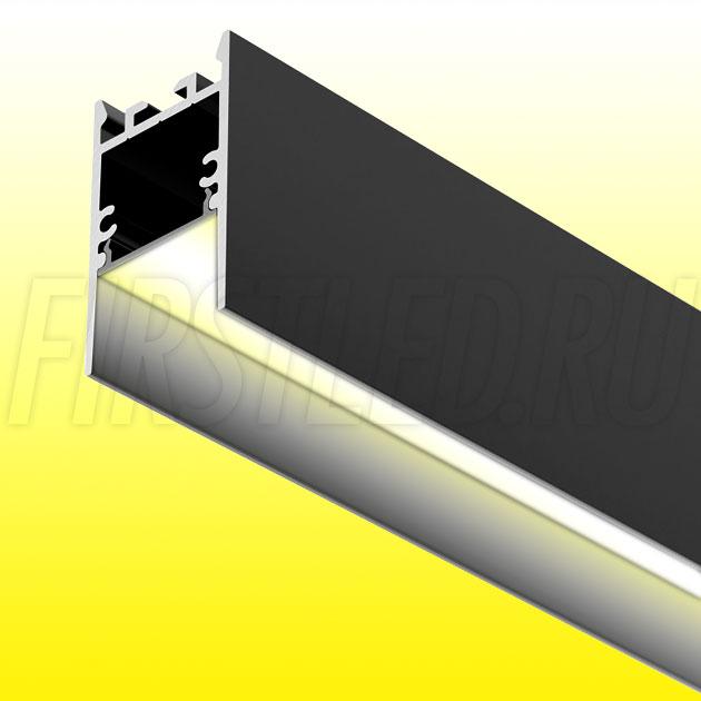 Накладной / подвесной алюминиевый профиль TALUM HIDE WP25.42 BLACK (черный)