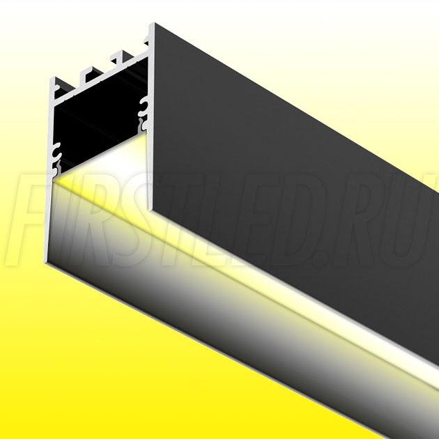 Накладной / подвесной алюминиевый профиль TALUM HIDE WP35.51 BLACK (черный)