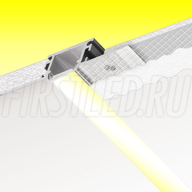Встраиваемый алюминиевый профиль без рамок TALUM NOFRAME 12.14