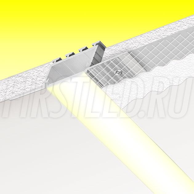 Встраиваемый алюминиевый профиль без рамок TALUM NOFRAME 24.18 (аналог PROFLINE 20T)