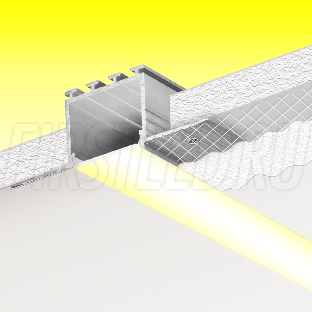 Встраиваемый алюминиевый профиль без рамок TALUM NOFRAME 24.25