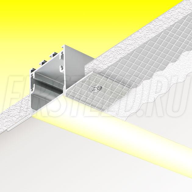Встраиваемый алюминиевый профиль без рамок TALUM NOFRAME 32.35