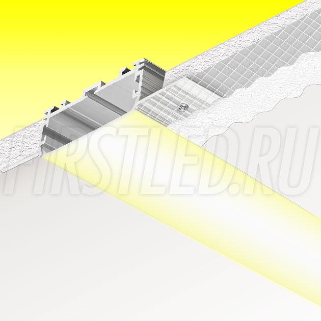 Встраиваемый алюминиевый профиль без рамок TALUM NOFRAME 45.19