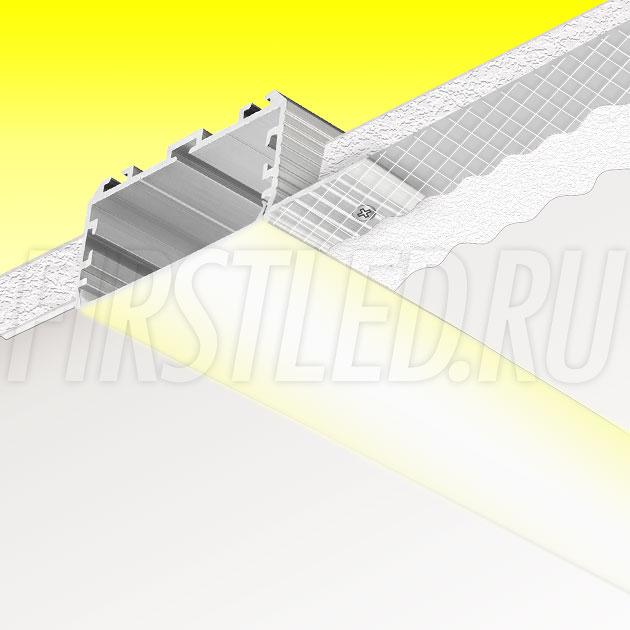 Встраиваемый алюминиевый профиль без рамок TALUM NOFRAME 45.25 (аналог PROFLINE 60T)
