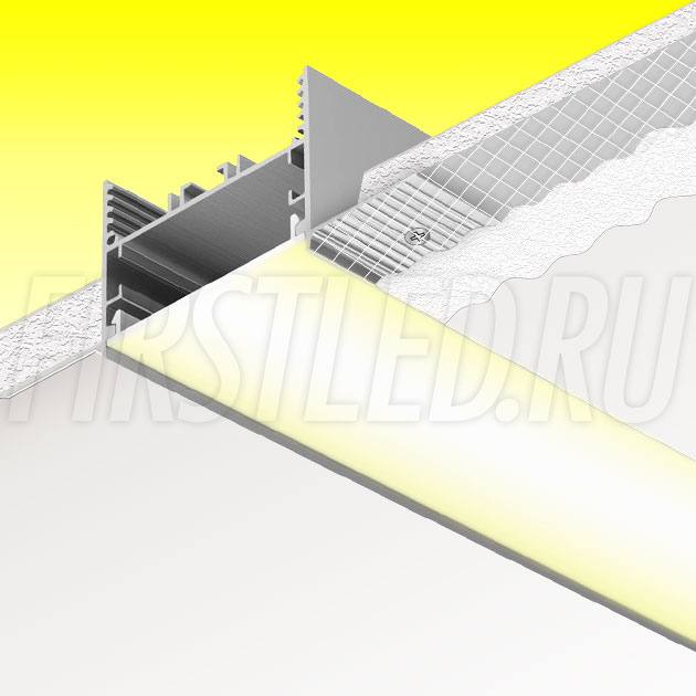 Встраиваемый алюминиевый профиль без рамок TALUM NOFRAME 45.35 (аналог PROFLINE 40T)