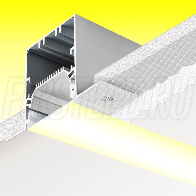 Встраиваемый алюминиевый профиль без рамок TALUM NOFRAME 54.70