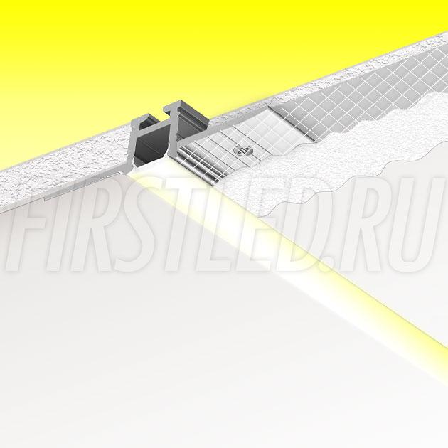 Встраиваемый алюминиевый профиль без рамок TALUM NOFRAME 8.10 (аналог PROFLINE MICRO T4)