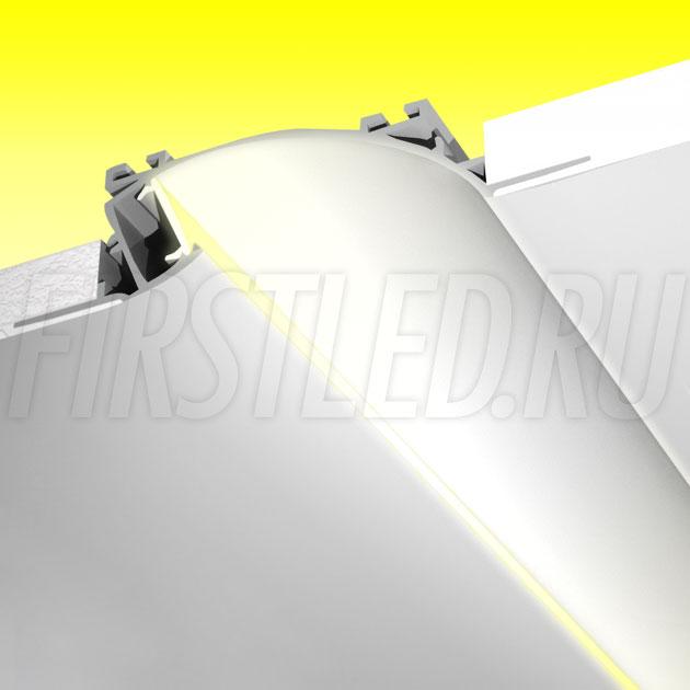 Встраиваемый алюминиевый профиль без рамок TALUM NOFRAME S.124