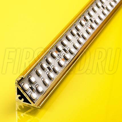Алюминиевый профиль для витрин TALUM S20.17gw (золото)