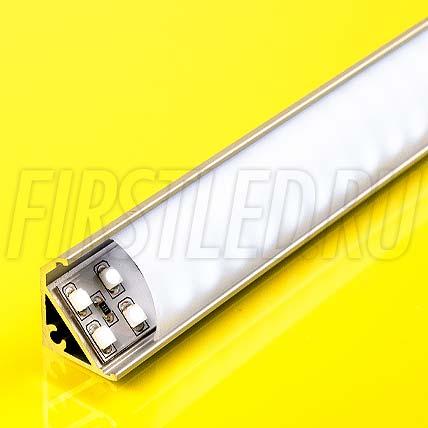 Алюминиевый профиль для витрин TALUM S20.17s (серебро)