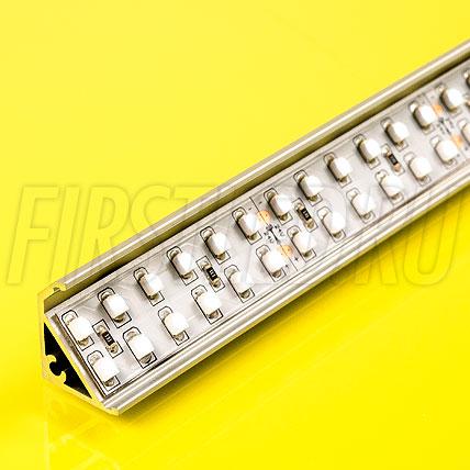 Алюминиевый профиль для витрин TALUM S20.17sw (серебро)