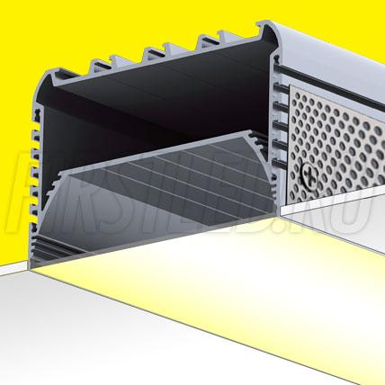 Встраиваемый алюминиевый профиль без рамок TALUM W116.74n