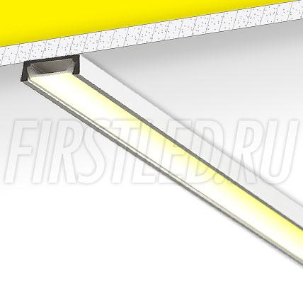 Накладной алюминиевый профиль TALUM W15.6 (анодированный)