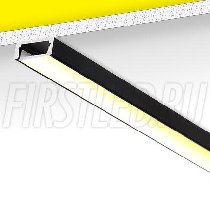 Накладной алюминиевый профиль TALUM W15.6 (черный)