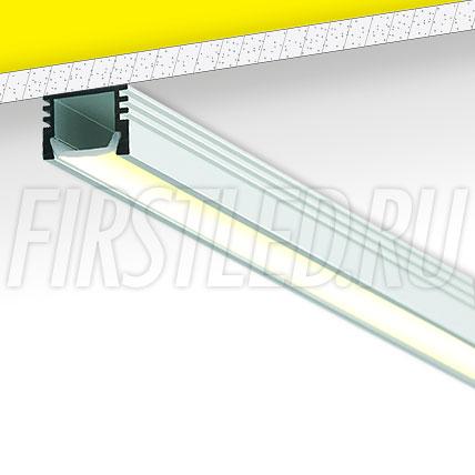 Накладной алюминиевый профиль TALUM W16.12