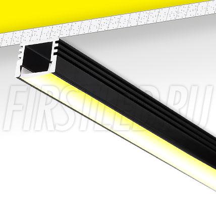 Накладной алюминиевый профиль TALUM W16.12 (черный)