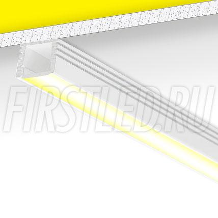Накладной алюминиевый профиль TALUM W16.12 (белый)