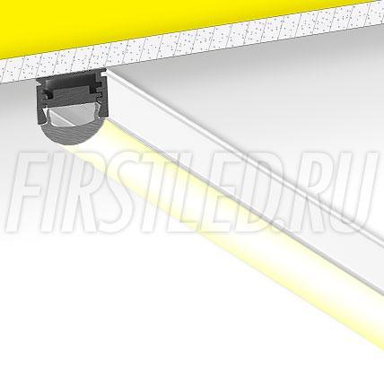 Накладной алюминиевый профиль TALUM W16.12G