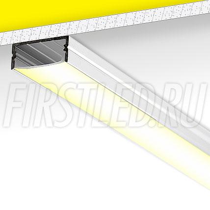 Накладной алюминиевый профиль TALUM W23.10