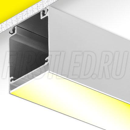 Накладной алюминиевый профиль TALUM W50.60