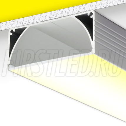 Накладной алюминиевый профиль TALUM W80.35