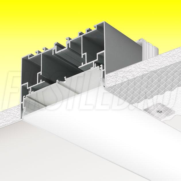 Встраиваемый алюминиевый профиль без рамки TALUM WP105.70n (2,5м)