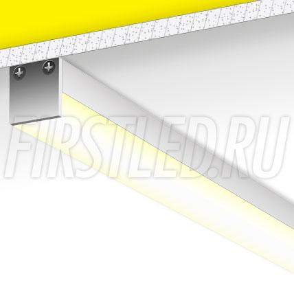 Накладной алюминиевый профиль TALUM WP20.20K/C