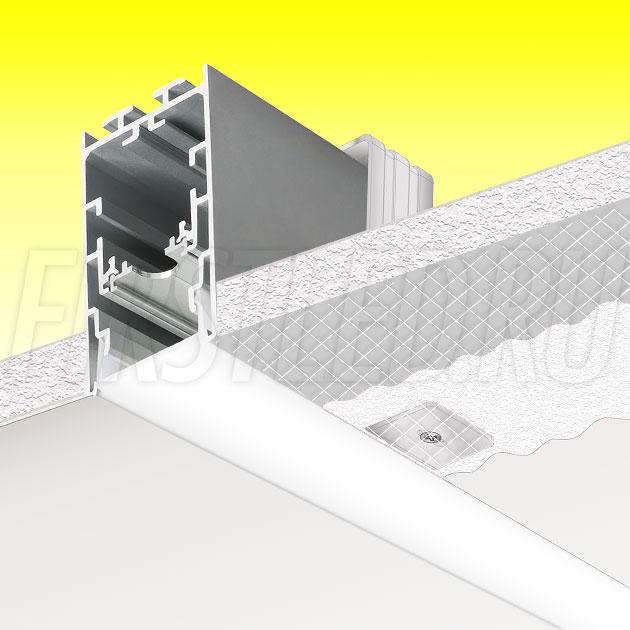 Встраиваемый алюминиевый профиль без рамок TALUM WP33.60n (2,5м)