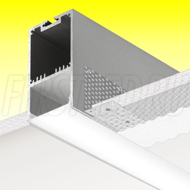 Встраиваемый алюминиевый профиль без рамок TALUM WP36.67n