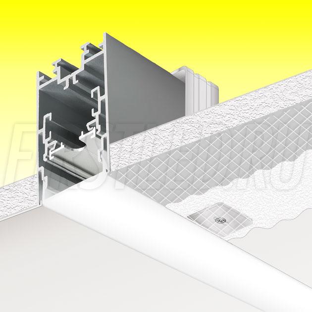 Встраиваемый алюминиевый профиль без рамок TALUM WP40.67n (2,5м)