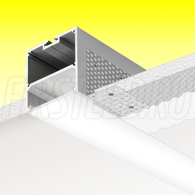 Встраиваемый алюминиевый профиль без рамок TALUM WP50.50n