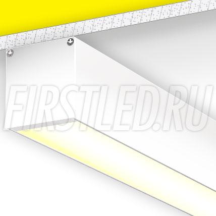 Накладной алюминиевый профиль TALUM WP50.50 (белый, 2,5м)