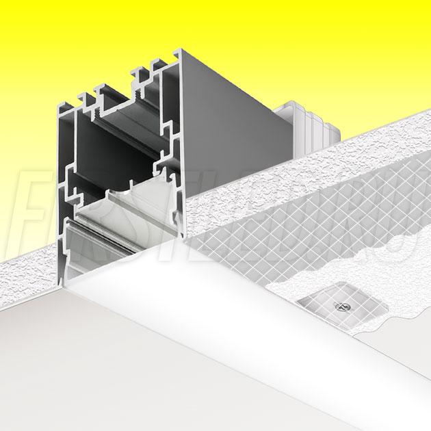 Встраиваемый алюминиевый профиль без рамок TALUM WP54.70n (2,5м)