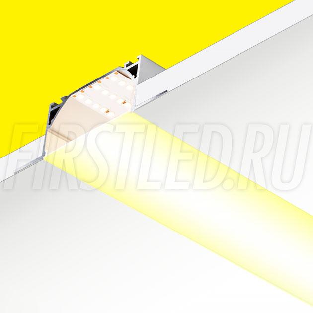 Встраиваемый алюминиевый профиль без рамок TALUM WP72.36n