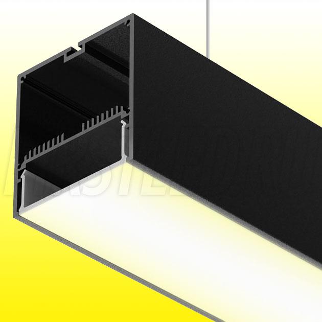 Подвесной алюминиевый профиль TALUM WP74.77 BLACK (черный)