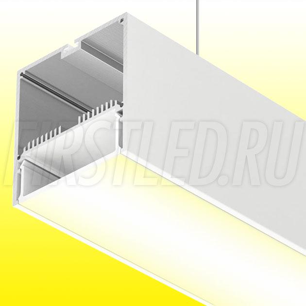 Подвесной алюминиевый профиль TALUM WP74.77 (белый, 2,5м)