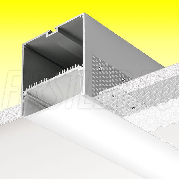 Встраиваемый алюминиевый профиль без рамок TALUM WP74.77n