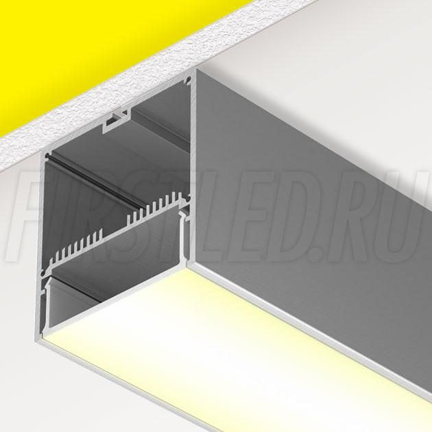 Накладной алюминиевый профиль TALUM WP74.77