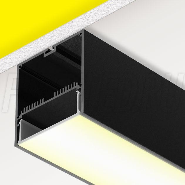 Накладной алюминиевый профиль TALUM WP74.77 BLACK (черный)