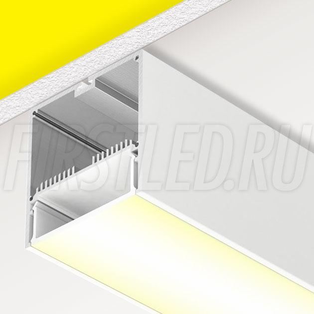 Накладной алюминиевый профиль TALUM WP74.77 WHITE (белый)