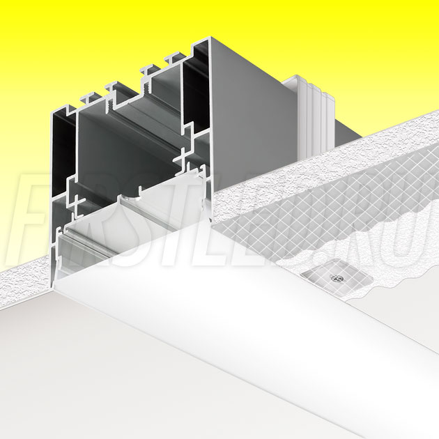 Встраиваемый алюминиевый профиль без рамок TALUM WP79.77n (2,5м)