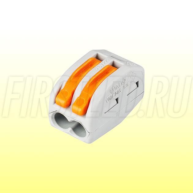 Клемма WAGO серии 222-412 (2 провода, 2,5-4мм)